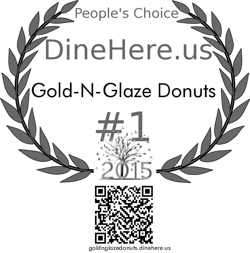 Gold-N-Glaze Donuts DineHere.us 2015 Award Winner